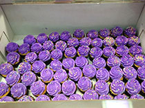 Purple cupcakes donated for Epilepsy Day