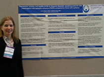 Dr.Lorna Myers with poster on PNES in Hispanic immigrants