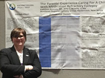 Nurse practitioner,  Kathleen Boreale, presented research on parents of children with epilepsy