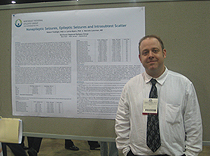 Dr. Robert Trobliger and his poster on epilepsy and PNES