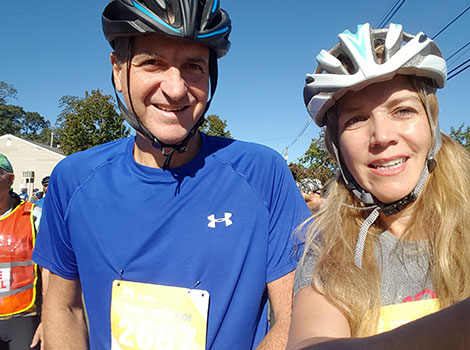 Drs. Marcelo Lancman and Lorna Myers rode 30 miles