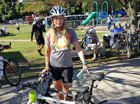 Dr. Lorna Myers rode for seizure disorders