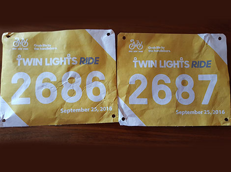Our numbers from the Twin Lights Ride