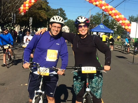 Brave Drs. Eric and Olga Segal rode 55 miles!
