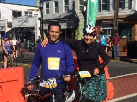 Drs. Eric and Olga Segal finished their 55 mile ride!