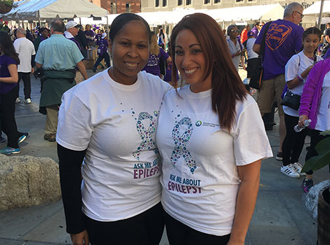 Sonya and Melissa, team Northeast Regional Epilepsy Group