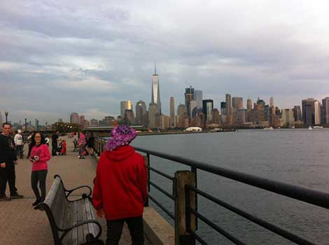 NYC skyline as seen from the epilepsy walk