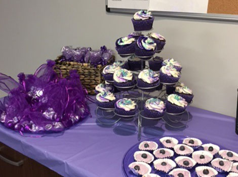 Morristown office cupcakes for epilepsy