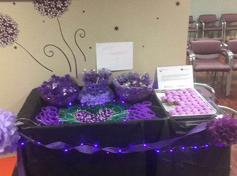 Purple treats for International Epilepsy Day