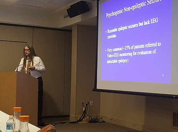 Dr. Christos Lambrakis spoke about diagnosing PNES