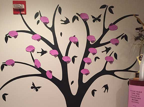 Thankfulness tree for November, epilepsy awareness month