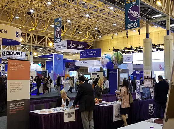 Exhibition hall featured multiple epilepsy booths
