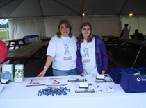 Shelby and Bridget spreading the word about epilepsy