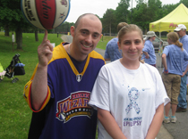 Mighty Mike Simmel and Shelby, our team captain for the epilepsy walk