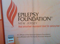 The Epilepsy Foundation of NJ information booth
