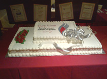 Delicious cake for Anniversary dinner for Epilepsy Foundation in Albany, NY