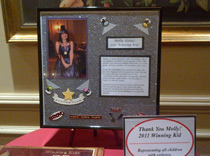 Molly, 2011 Winning kid of the Epilepsy Foundation NENY