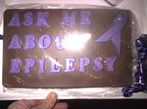 Ask me about epilepsy chocolate bar