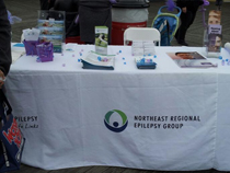 Epilepsy Information booth on the beach