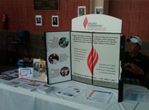 Epilepsy Foundation of Northeast NY booth at the game