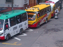 Buses along the streets of Pereira