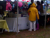 Rain couldn't dampen the spirits of the team members