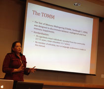 Dr. Lorna Myers-spanish speaking clients and the TOMM