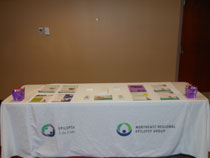 Epilepsy information booth for the conference