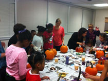 Busy bees at our pumpkin workshop