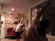 Our office hosted yoga class