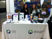 The Northeast Regional Epilepsy Group information booth