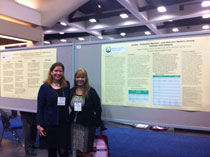 Drs. Bonfina and Myers presenting their epilepsy research at AES 2012