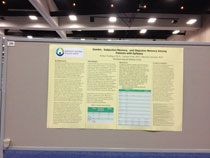 Dr. Rob Trobliger's scientific poster on memory in epilepsy