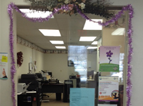 Our Middletown Office was all decked out in Purple on Epilepsy Day
