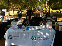 Epilepsy booth in Edison, NJ 2013