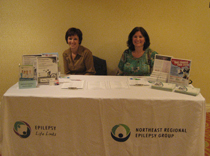 Northeast Regional Epilepsy Group Information booth at Connecticut conference